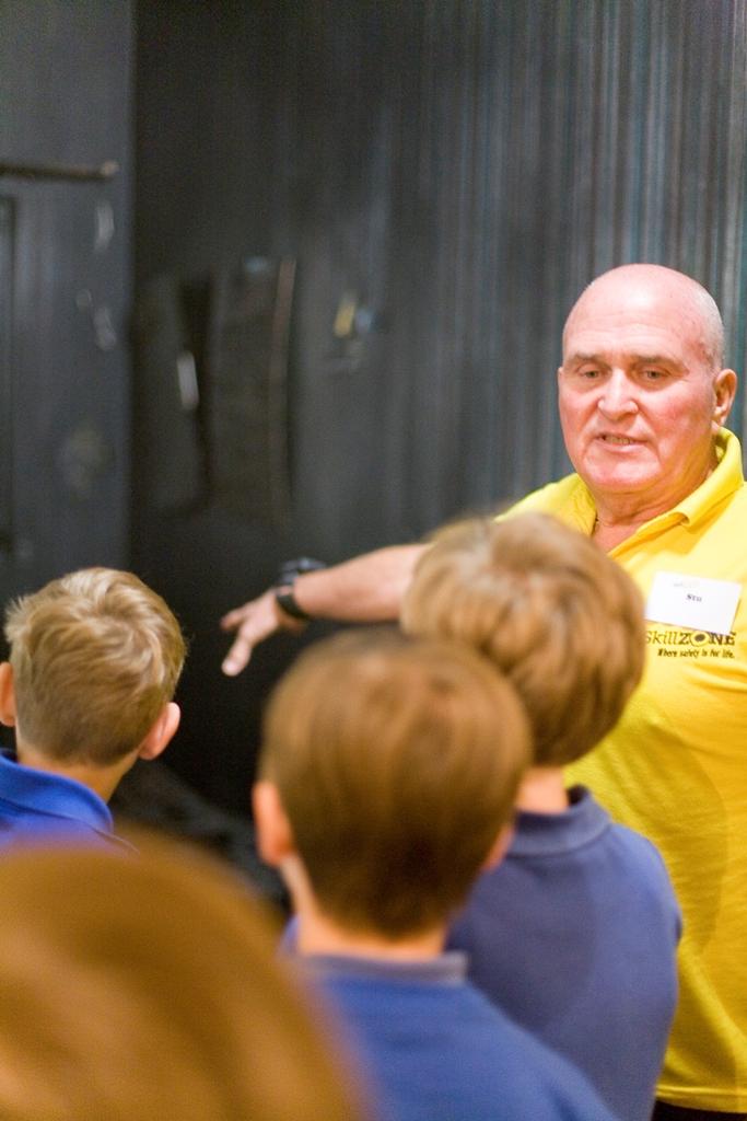 Volunteer Stu Slatter